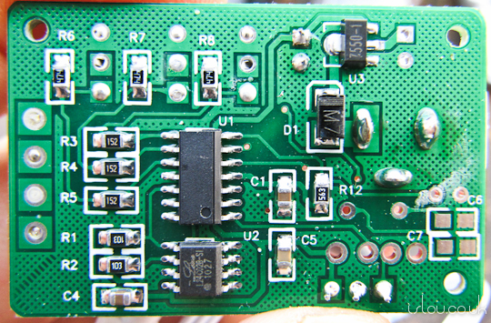 Bottom of Controller Board