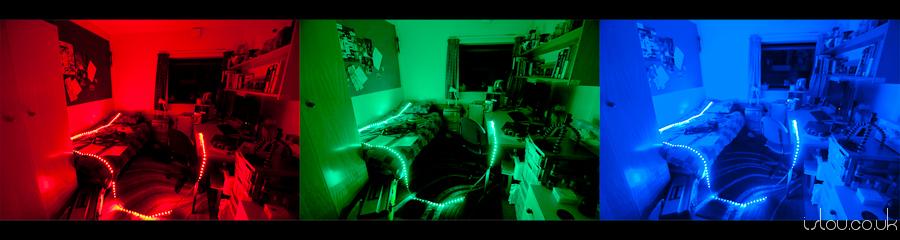 LED strip lighting room