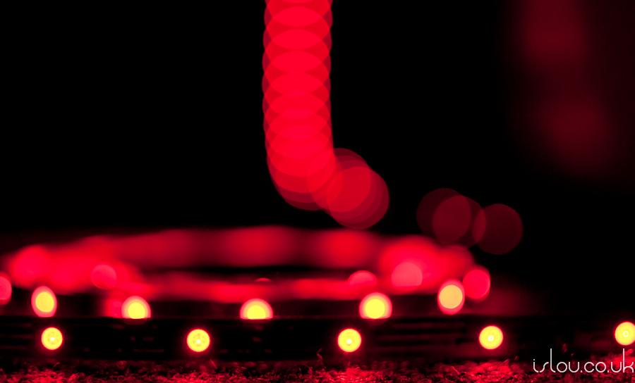 "RGB LED Strip set to ""Red"""