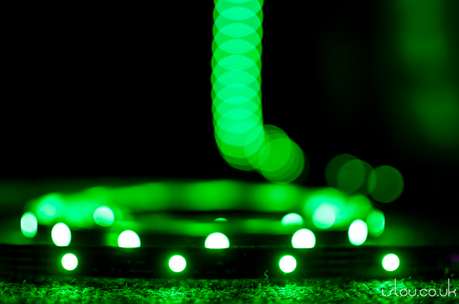 "RGB LED Strip set to ""Green"""